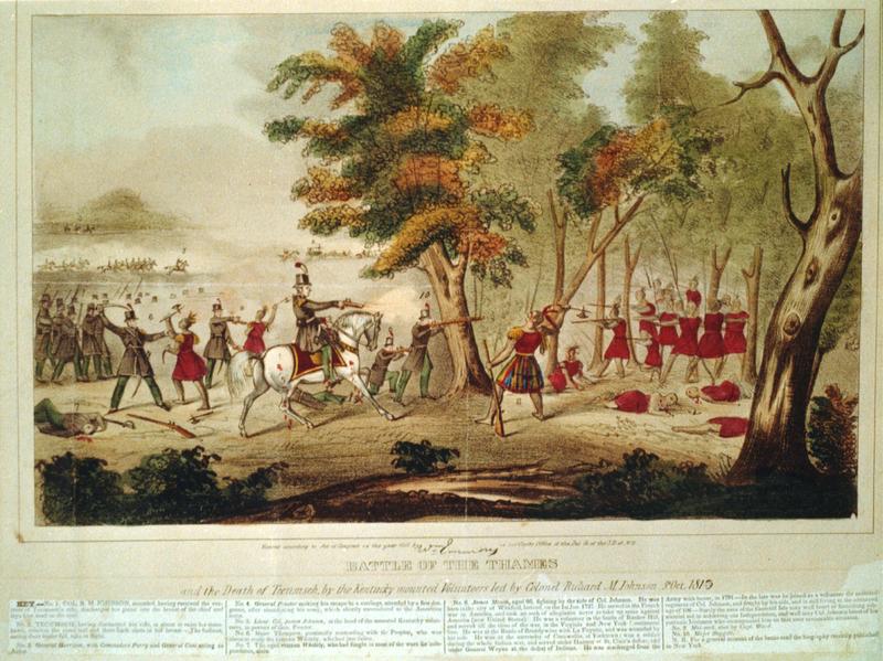 Смерть Текумсе. Фото: wikimedia.org