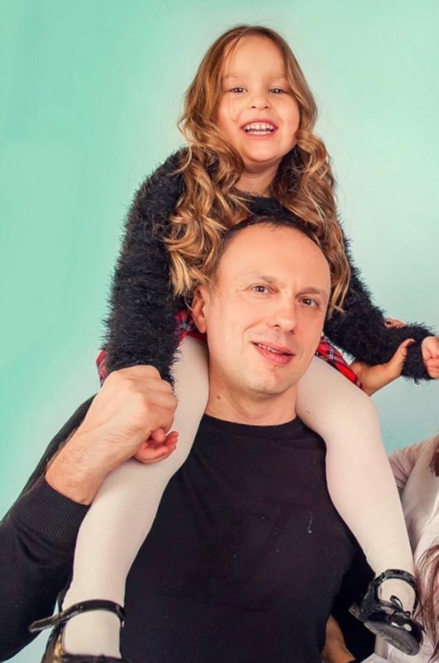 Тимошенко с дочерью Софией. Фото предоставлено Максимом Тимошенко
