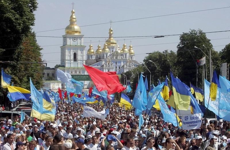 Митинг сторонников Партии регионов в Киеве в июле 2006 года. Фото: ЕРА
