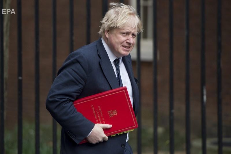 Джонсон после встречи ведущих министров британского правительства, посвященной отравлению Скрипаля. Фото: ЕРА