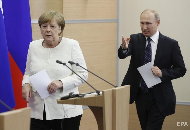 В мае канцлер Меркель встречалсь с Путиным в Сочи Фото: ЕРА
