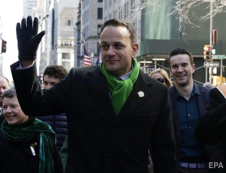 Варадкар и Барретт на параде по случаю Дня святого Патрика в 2018 году в Нью-Йорке. Фото: EPA