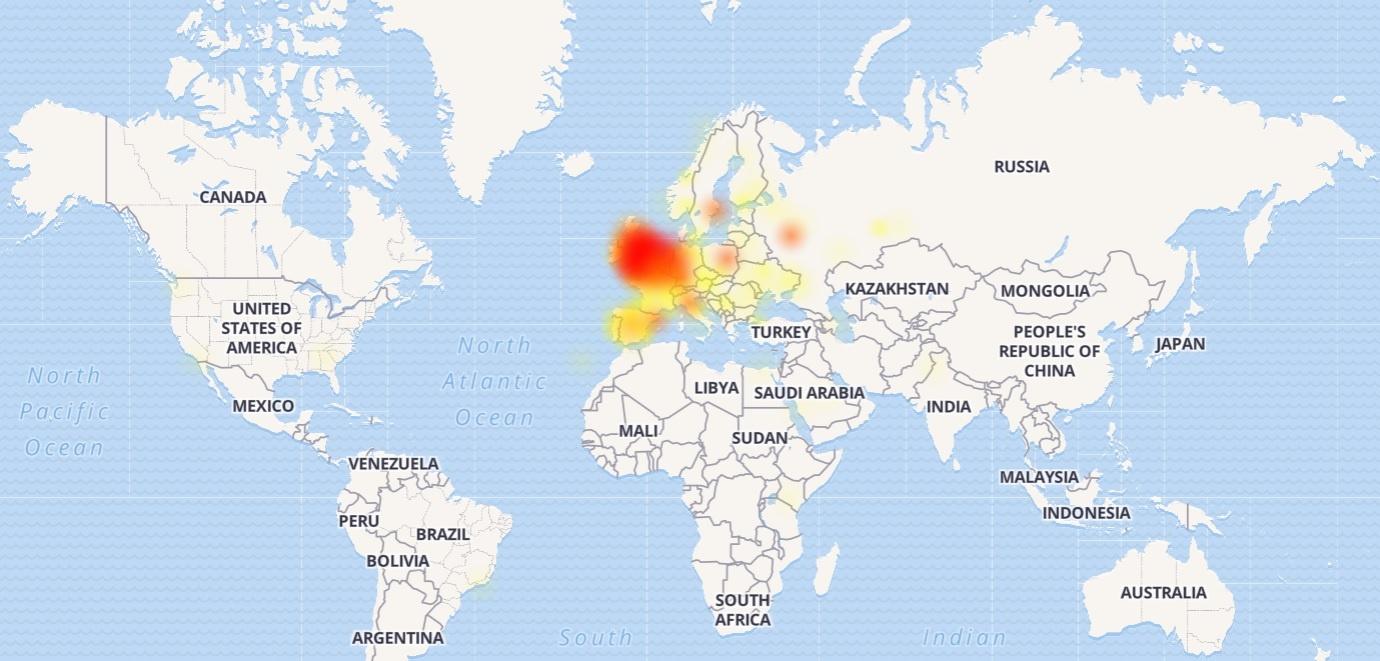 Скрин: downdetector.com
