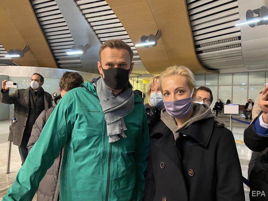 Навальний повернувся в Росію 17 січня. Фото: EPA