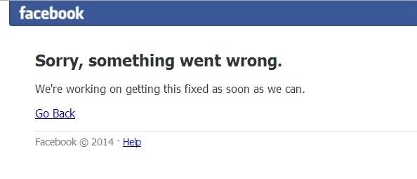 Социальная сеть facebook не работает