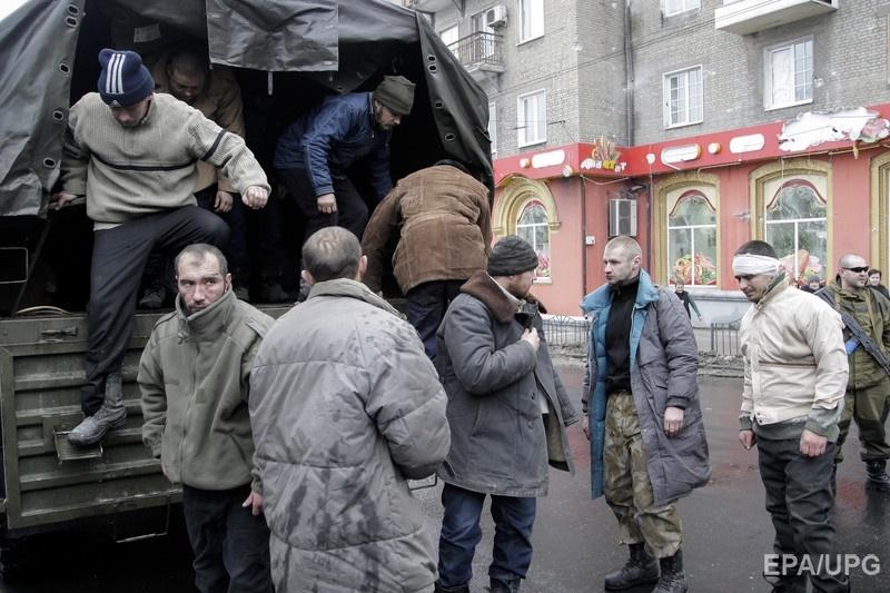 Украинские военнопленные в Донецке. Фото: ЕРА