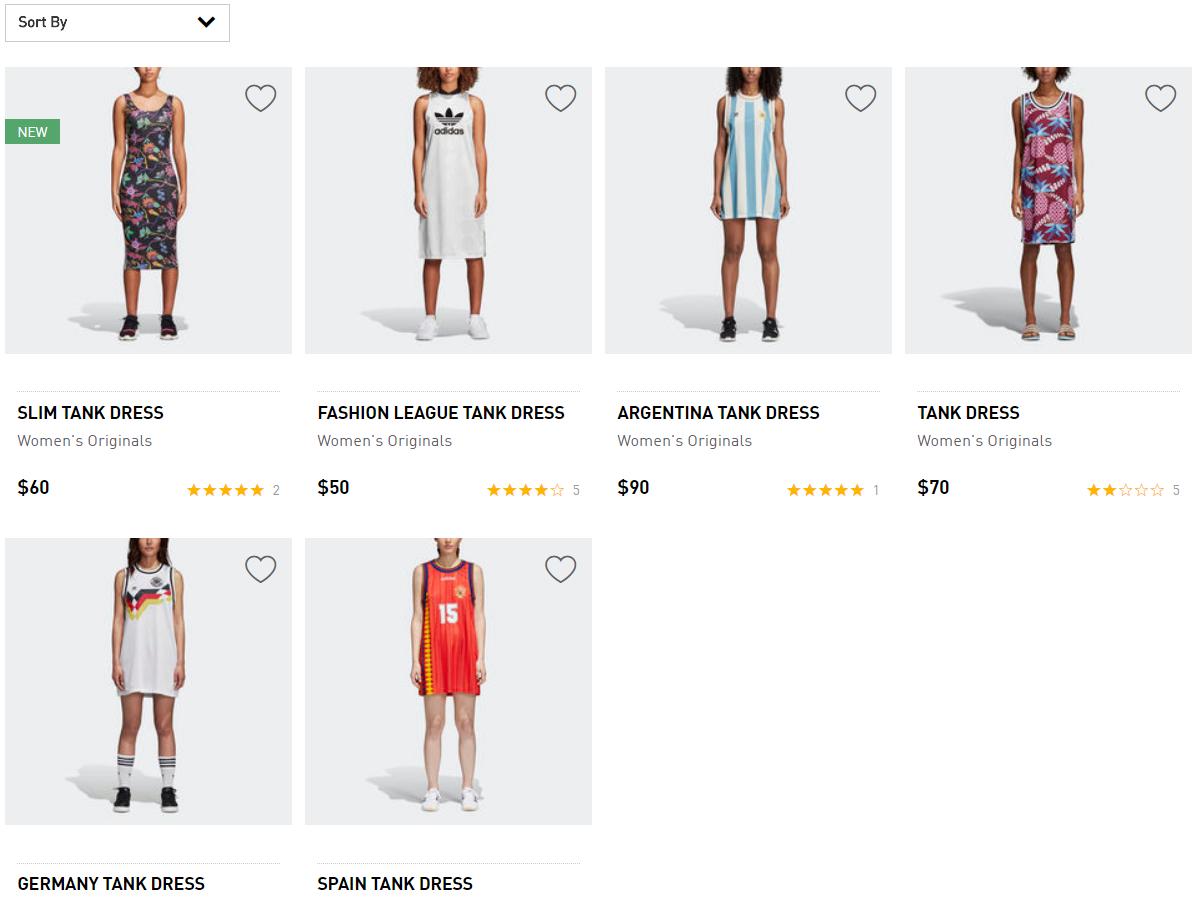 Скриншот: adidas.com