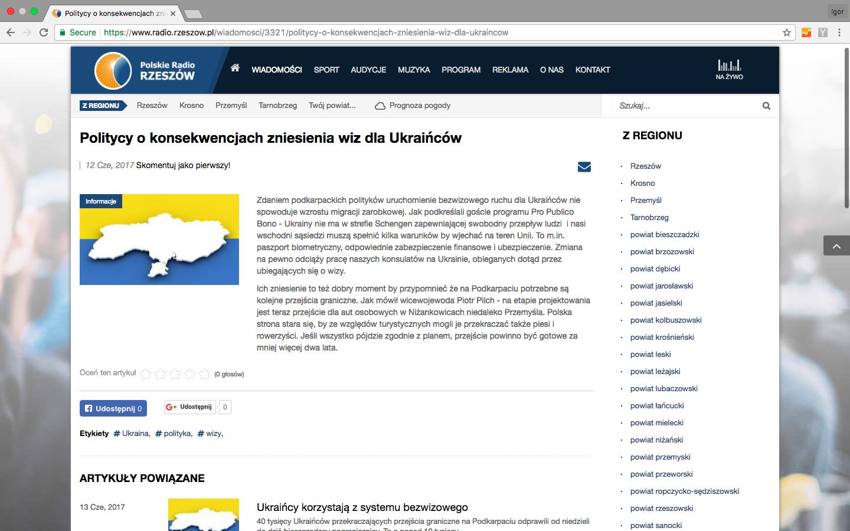 Польське радіо вибачилось запублікацію карти України без Криму
