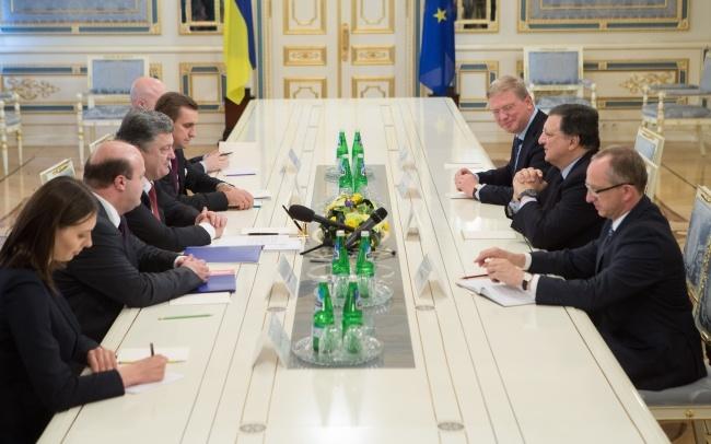 Встреча с президентом Европейской Комиссии. Фото: president.gov.ua