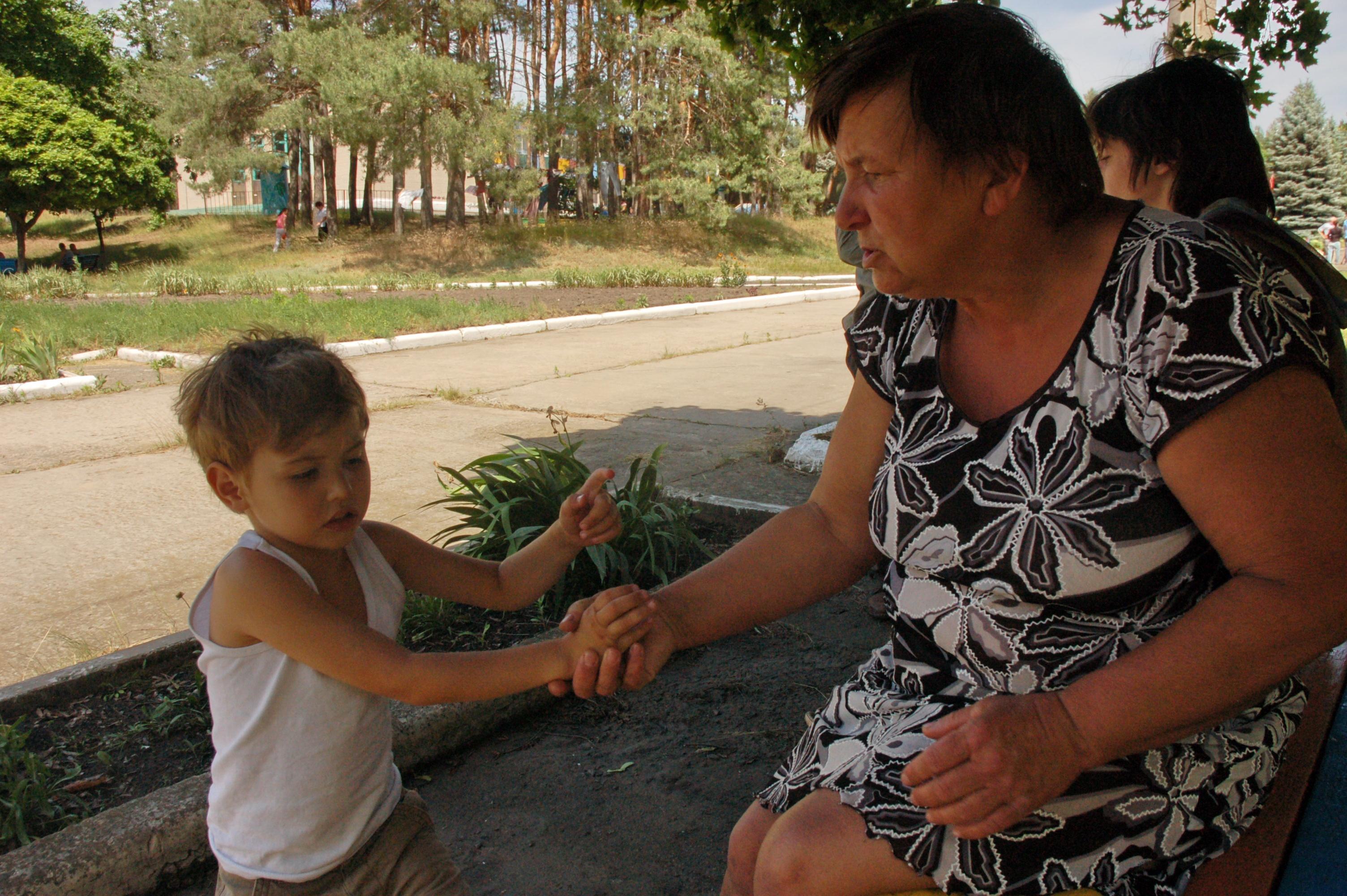с внуком Степаном