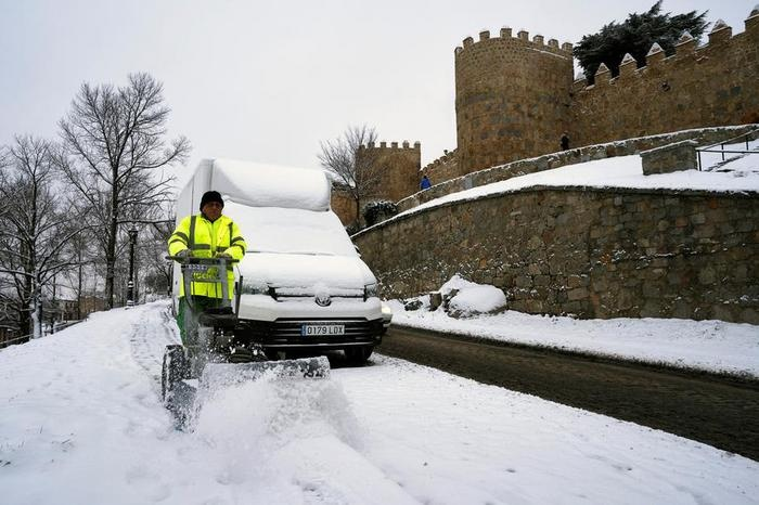 Фотография сделана в испанском городе Авила 21 января. Фото: ЕРА