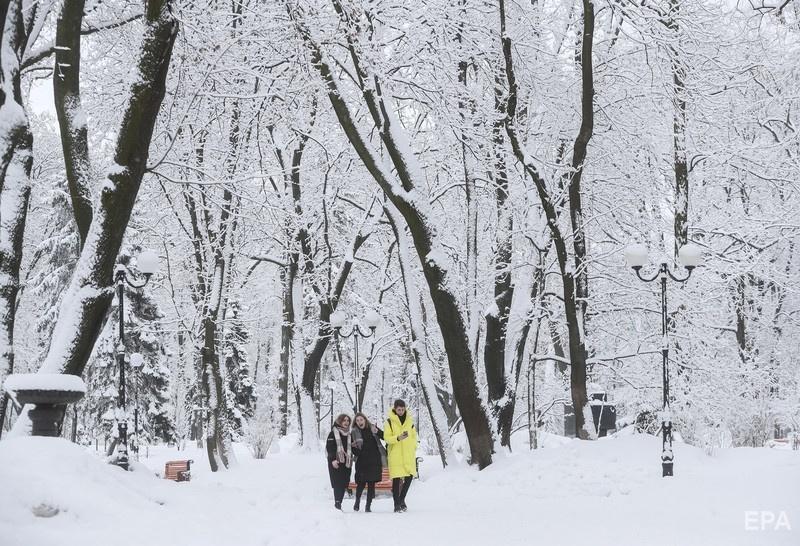 В начале февраля 2019 года в Киеве было много снега. Фото: ЕРА