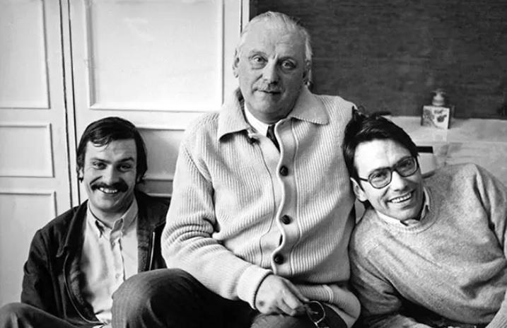 Сергей Михалков с сыновьями Никитой и Андреем