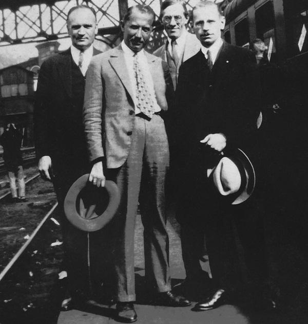 Слева направо: Григорий Каленик-Лисюк, Евгений Коновалец, Иван Рудаков, Николай Сциборский. Париж, 1929 год. Фото: Архив Центра исследований освободительного движения