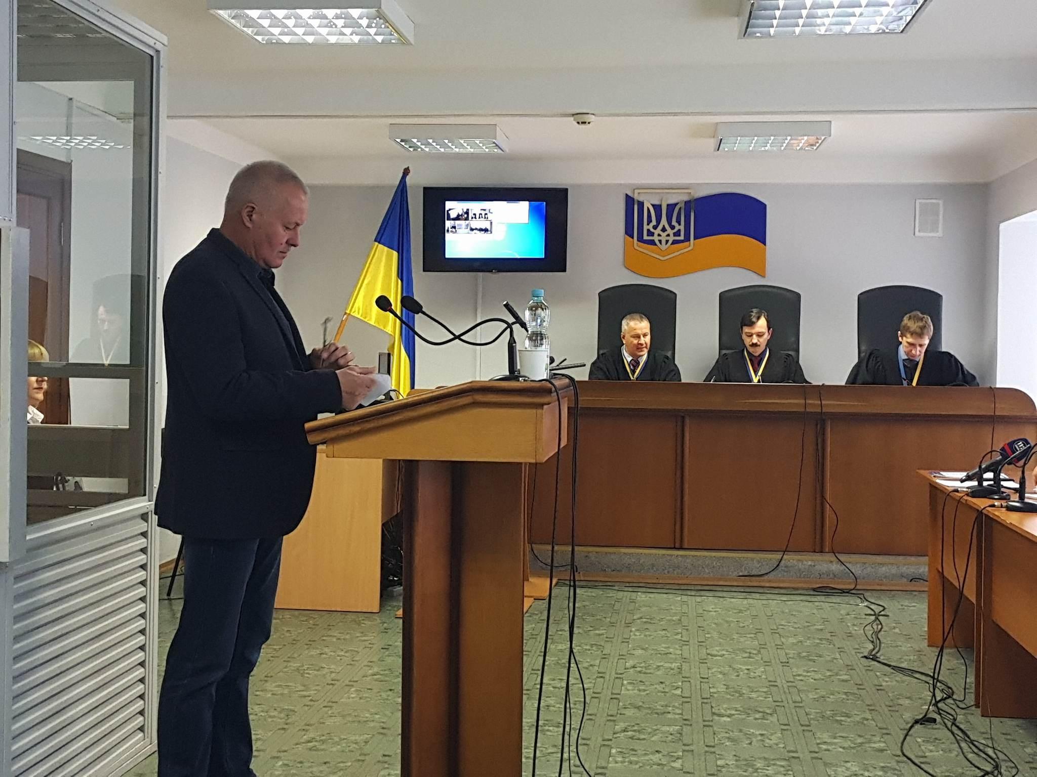 Замана дал показания в суде Оболонского района Киева. Фото: censor.net.ua