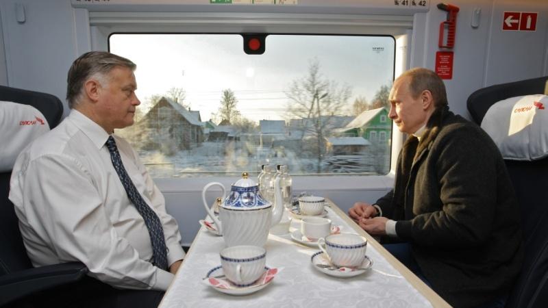 Володимир Якунін і Володимир Путін. Фото: navalny.com