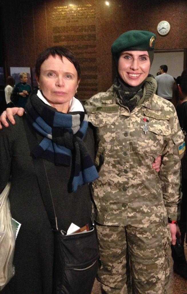 Ирина Каминская и Амина Окуева в 2015 году. Фото из архива Ирины Каминской