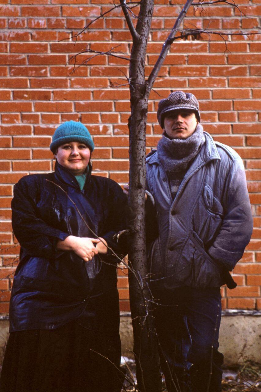 Валентина Руденко зі своїм однокурсником, російським режисером Олексієм Балабановим. Фото з архіву Валентини Руденко