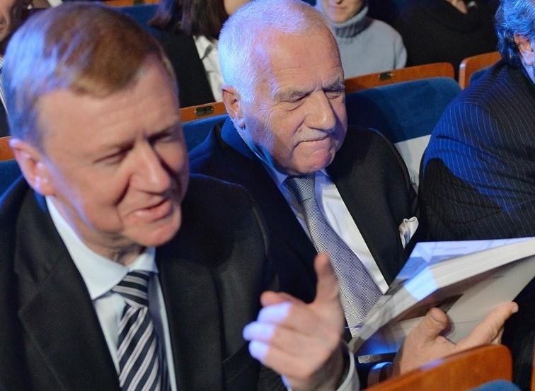 Анатолий Чубайс и экс-президент Чехии Вацлав Клаус