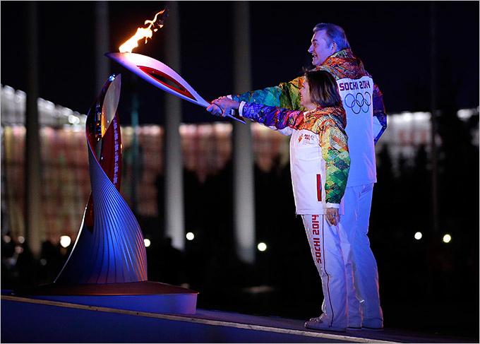 Открытие зимних Олимпийских игр в Сочи. 2014 год. Фото: olimp-history.ru