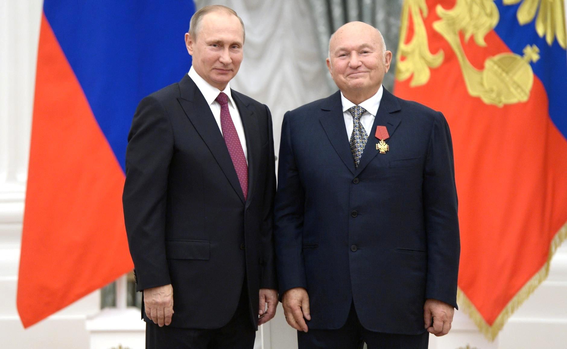 Президент РФ Владимир Путин и Юрий Лужков. Фото: Kremlin.ru