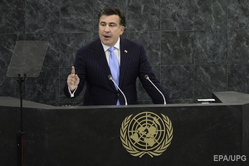 Саакашвили во время выступления на Генассамблее ООН, 29 сентября 2013 года. Фото: EPA