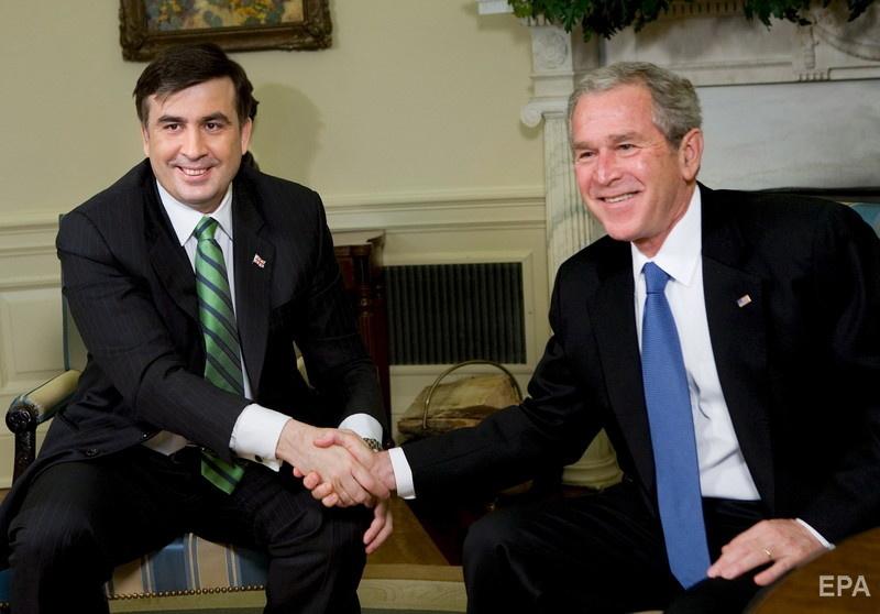Саакашвили и Буш-младший. Фото: EPA