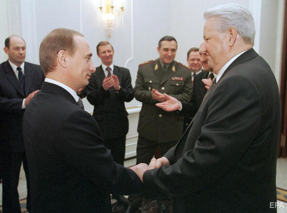 Путин и Борис Ельцин, 31 декабря 1999 года. Фото: EPA