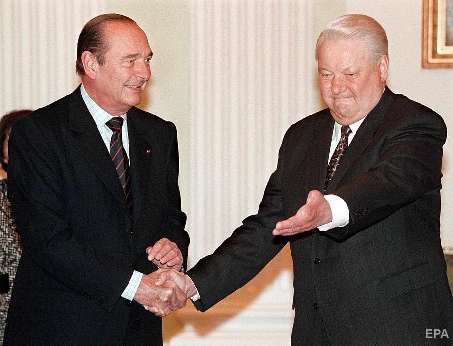 Жак Ширак и Борис Ельцин, май 1999 года. Фото: EPA