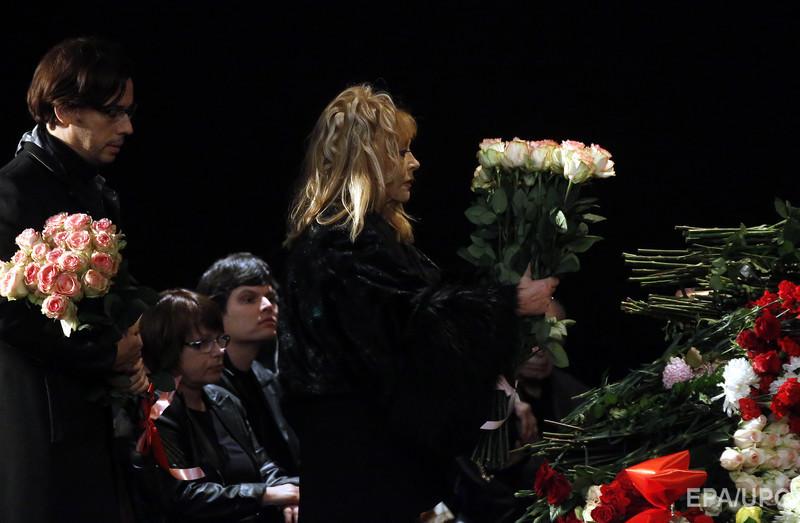 пугачева и галкин на похоронах рязанова наверное, Минске