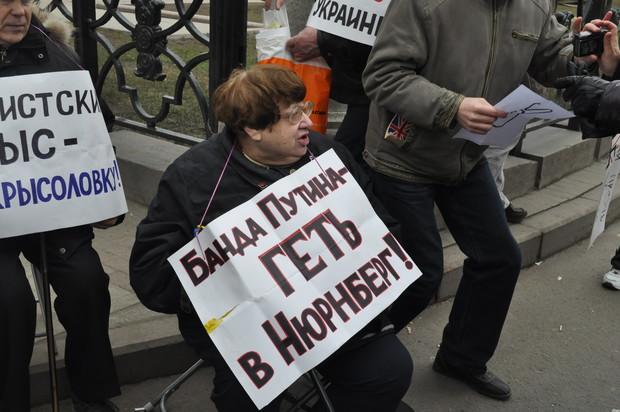 """Среди участников """"Марша"""" – Валерия Новодворская"""