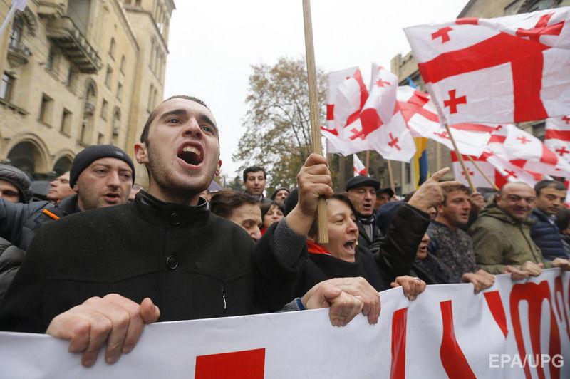 В Тбилиси прошла акция в поддержку Саакашвили. Фоторепортаж / ГОРДОН