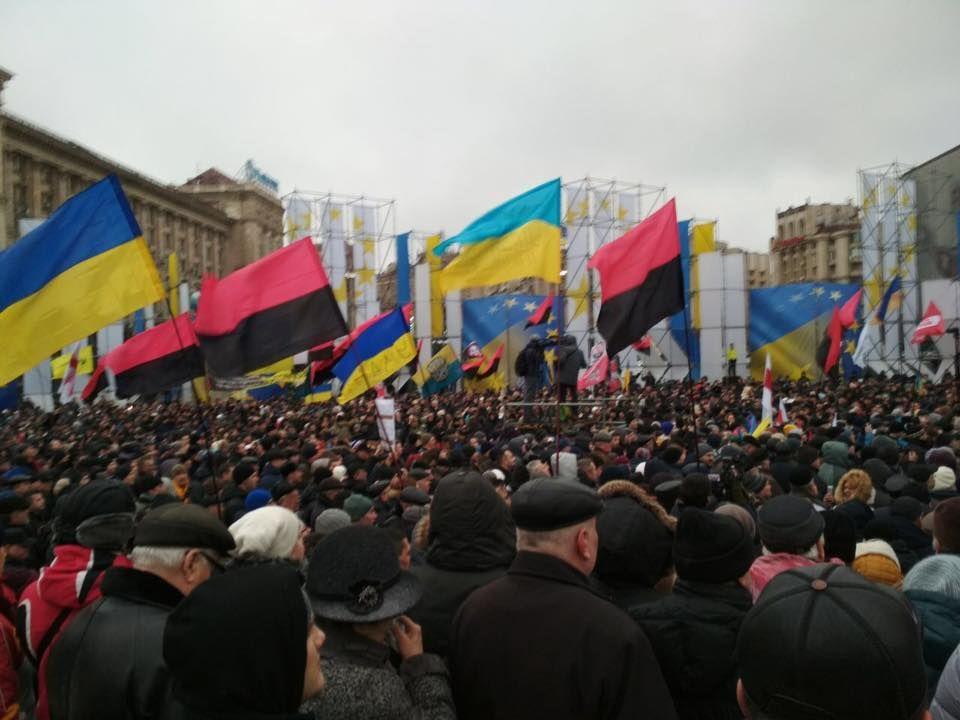 Saakaşvili tərəfdarları Poroşenkoya impiçment mitinqi keçirib VİDEO