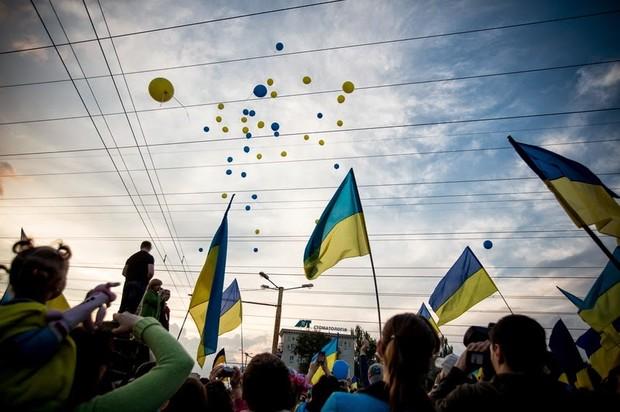 В Запорожье состоялся парад единства. Фоторепортаж / Гордон