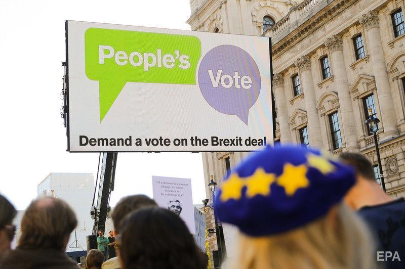В Лондоне сотни тысяч британцев вышли на марш за новый референдум по Brexit. Фоторепортаж / ГОРДОН